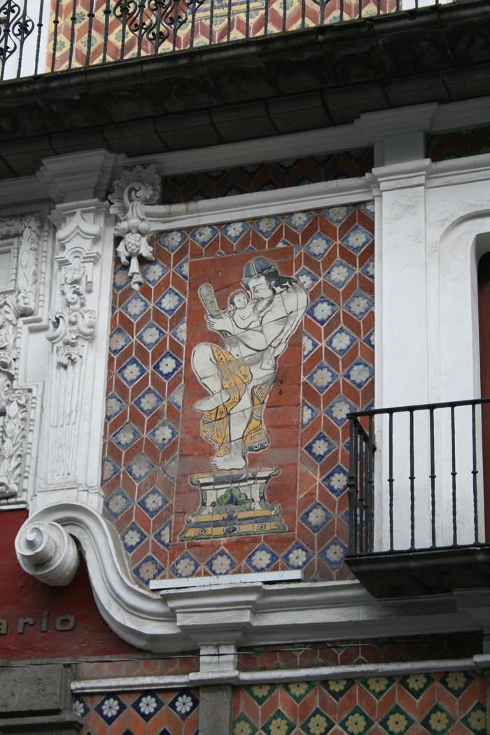 Detalle de la Casa de los Muñecos