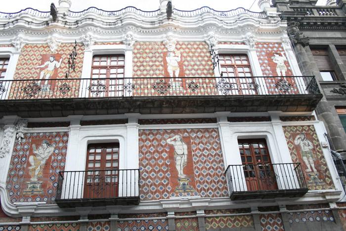 Fachada en Talavera de la casa de los Muñecos