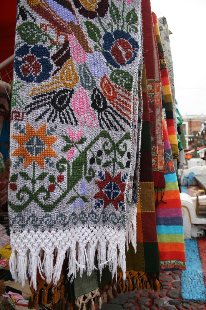 Textiles típicos de la región de Puebla