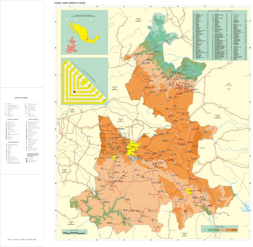 Mapa del Estado de Puebla