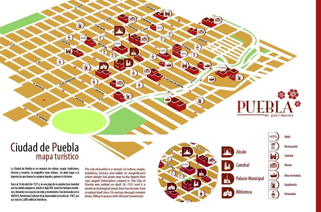 Planos y mapas de Puebla