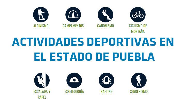 Actividades deportivas y excursiones en el Estado de Puebla